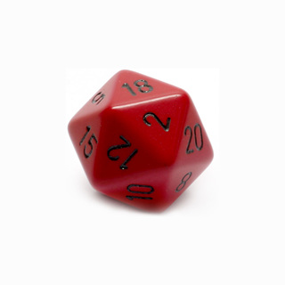 Red with Black Large Twenty Sided Dice