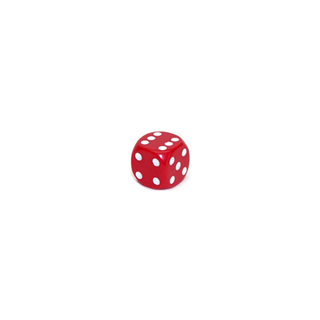 Red and White Six Sided Dice (12mm)