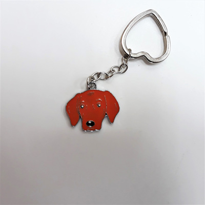 Red Dog Enamel Key Ring