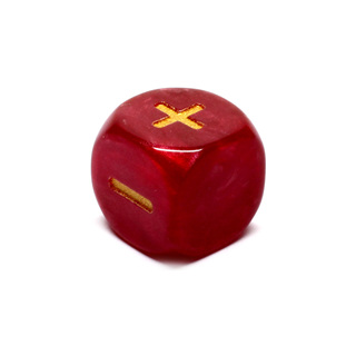 Red Fudge/Fate Six Sided Dice (16mm)