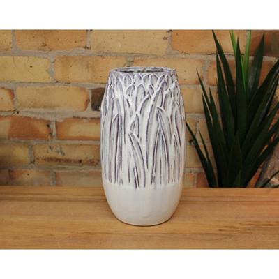 Reed Ceramic Vase - Off White - Large