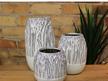 Reed Ceramic Vase - Off White - Medium