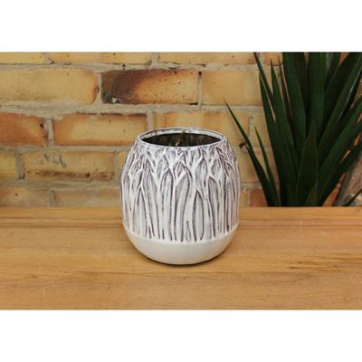 Reed Ceramic Vase - Off White - Small