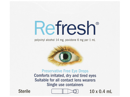 Refresh Preservative Free Eye Drops 10 x 0.4mL