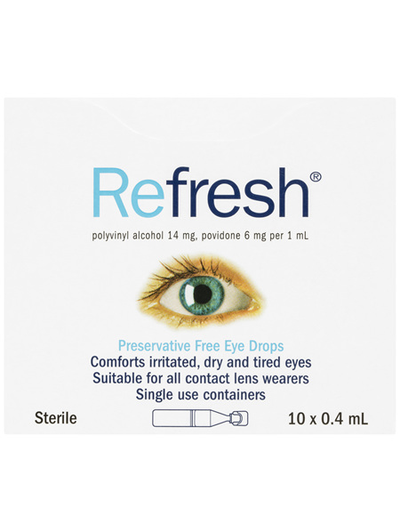 Refresh Preservative Free Eye Drops 10 x 0.4mL