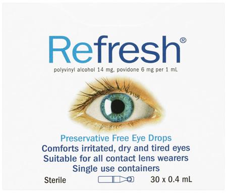 Refresh Preservative Free Eye Drops 30 x 0.4 mL