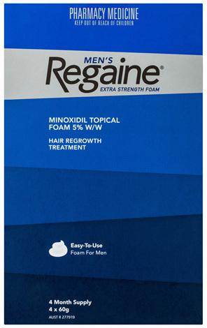 Regaine Men's Extra Strength Minoxidil Foam Hair Loss Regrowth Treatment 4 x 60g