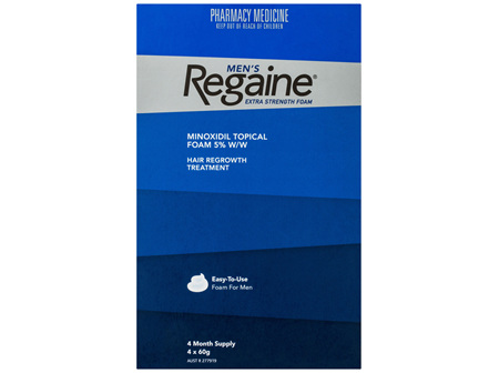 Regaine Men's Extra Strength Minoxidil Foam Hair Regrowth Treatment 4 x 60g