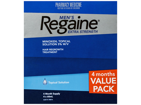 Regaine Men's Extra Strength Minoxidil Hair Regrowth Treatment 4 x 60mL