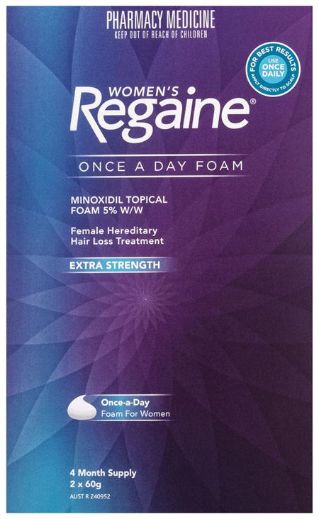 Regaine Women's Extra Strength Minoxidil Foam Hair Regrowth Treatment 2 x 60g
