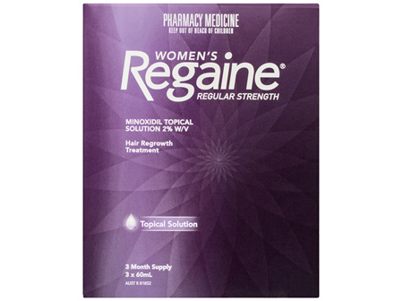 Regaine Women's Regular Strength Minoxidil Hair Regrowth Treatment 3 x 60mL