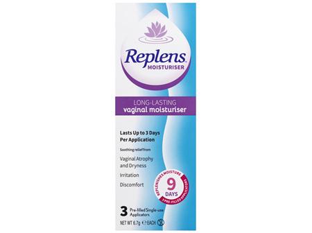 Replens Long Lasting Vaginal Moisturiser 3 Pack