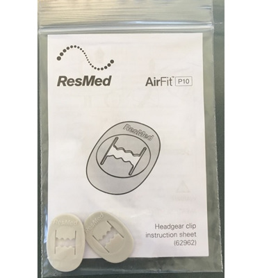 ResMed Airfit P10 headgear clips