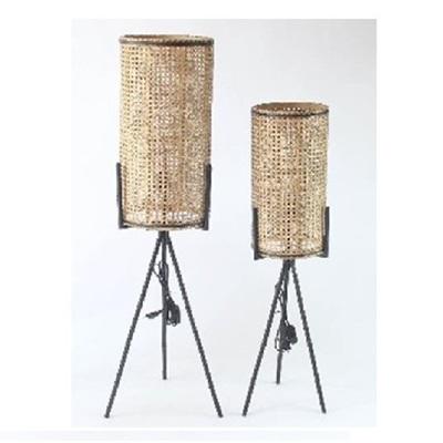 Retro Rattan Floor Lamps - Natural