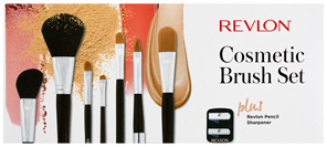 Revlon Cosmetic Brush Set Plus Revlon Pencil Sharpener