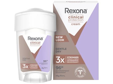 REXONA Women Clinical Protection Antiperspirant Cream Gentle Dry 45ml