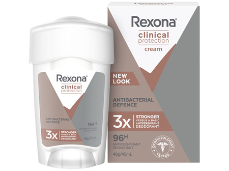 REXONA Women Clinical Protection Antiperspirant Deodorant Antibacterial Defence 45ml