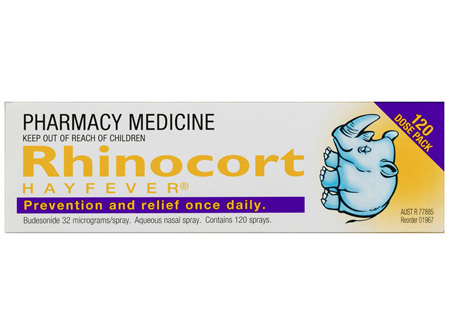 Rhinocort Nasal Spay for Hayfever & Allergies 120 Dose Pack