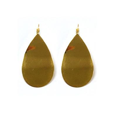 Ripple Oval Earrings - Gold