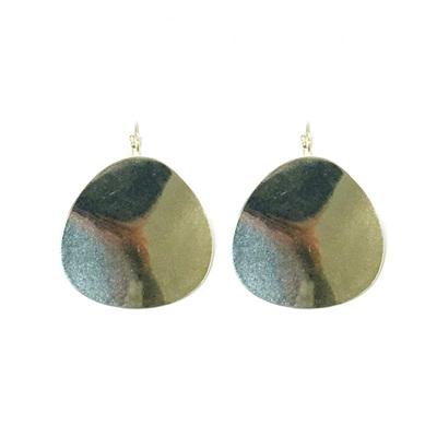 Ripple Round Earrings - Silver