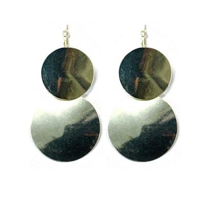 Ripple Saturn Earrings - Silver