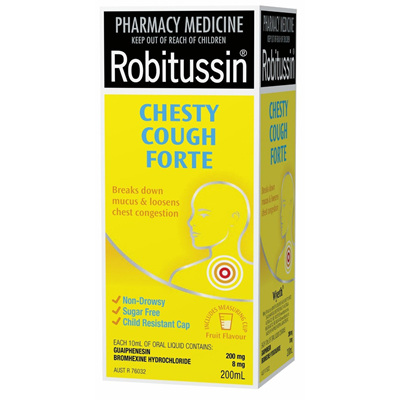 Robitussin Chesty Cough Liquid Forte 200ml