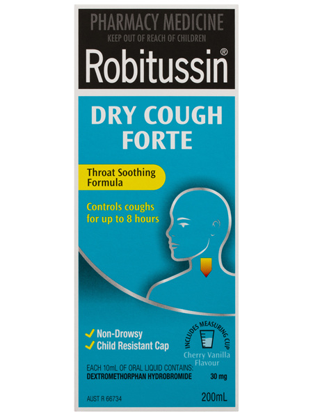 Robitussin Dry Cough Forte Cherry Vanilla 200mL