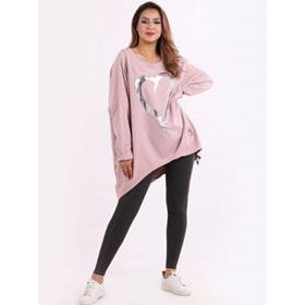 Romance Plus Size Sweater Pink