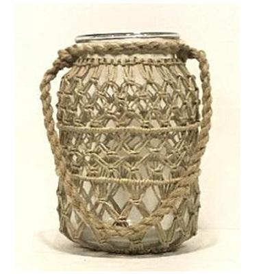 Roosa Lantern W Rope Weaving - Large