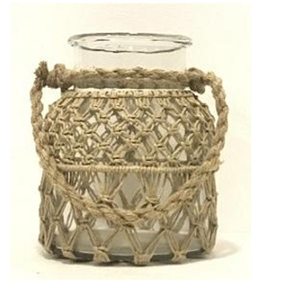 Roosa Lantern W Rope Weaving - Medium