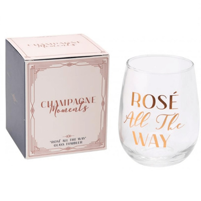Rose All the Way Glass Tumbler