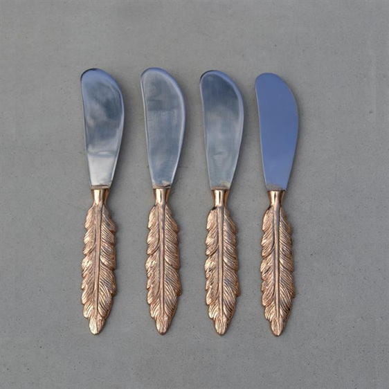 Rose Gold Feather Spreader