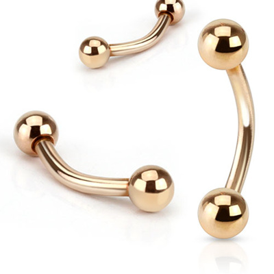 Rose Gold IP Basic Curved Barbell