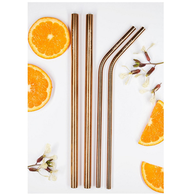 Rose Gold Mix Pack - Reusable Straws