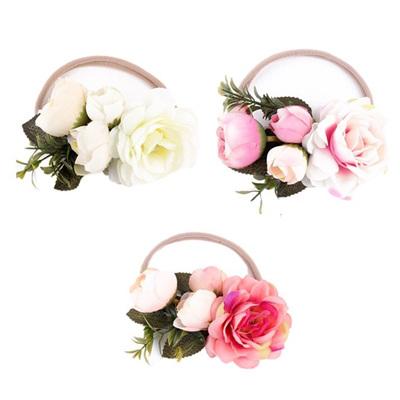 Rose in Vine Headband