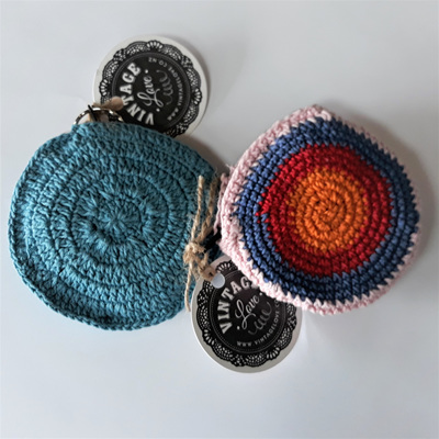 Round Crochet Coin Purse