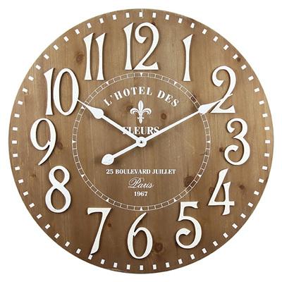 Round Fleur De Lis Clock