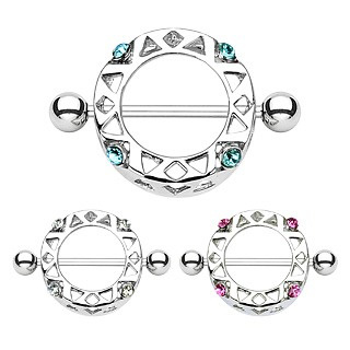 Round Nipple Shield with Gems