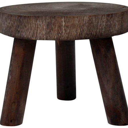 Round Stool Medium - Dark Wash