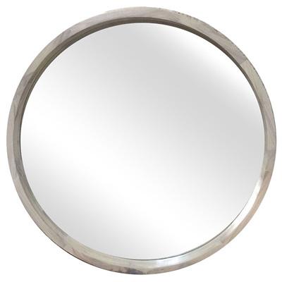 Round Wooden Mirror - 700mm