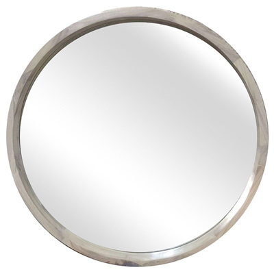 Round Wooden Mirror - 700mm