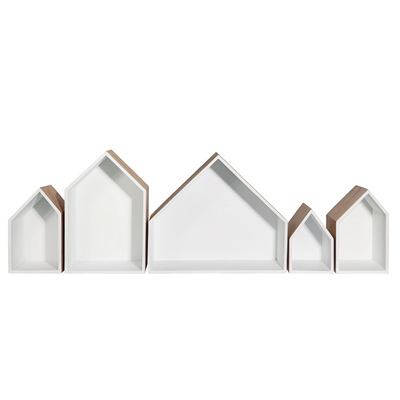 Row of 5 Houses - White