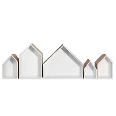 Row of 5 Houses - White