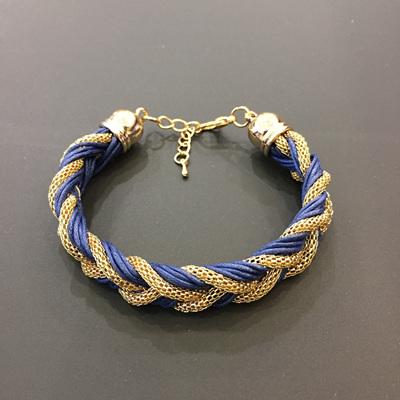 Royal Plait Bracelet - Navy