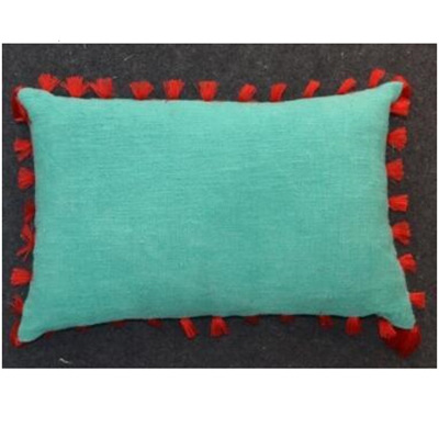Ruby Cushion - Red & Turquoise 40x60cm