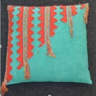Ruby Cushion - Red & Turquoise 55x55cm