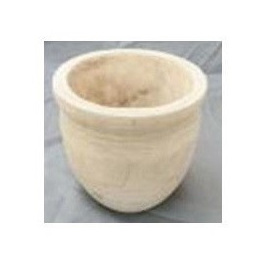 Rudy Carved Wood Planter - Natural - 22.5cmh