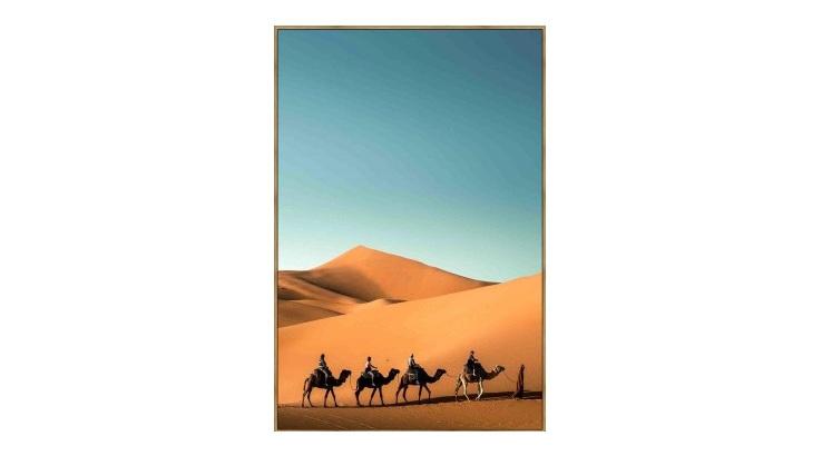 Sahara Canvas Print - Timber Look Frame