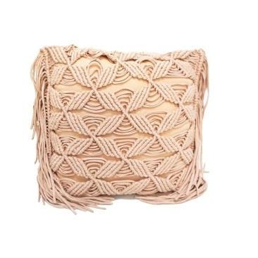 Sai Macrame Cushion - Pink 45x45cm