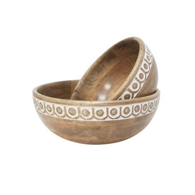 Saint Wood Carved Bowl